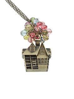 "New Disney UP Movie Carl & Ellie's Home Bead Balloon Pendant 26"" Necklace #Disney #Pendant"