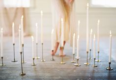 candles all over the floor