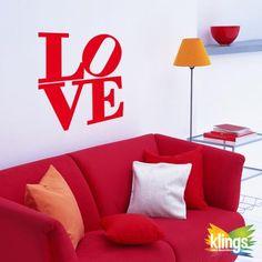 Vinilos decorativos-LOVE, amor. WALL STICKER DECOR