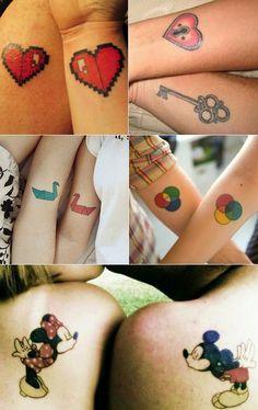 Inspire-se: Matching Tattoos!