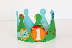 Jungle Birthday Crown For Boy, Big Cats, 1st Birthday, Jungle Party Hat, Prince, King of the Jungle