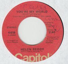 "helen reddy ""you're my world"""