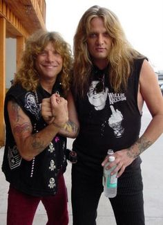 Steven Adler and Sebastian Bach Hair Metal Bands, 80s Hair Bands, Sebastian Bach, Music Like, New Music, Rock Music, Eighties Outfits, Steven Adler, Musical Hair