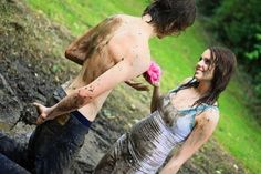 Really want to have a mud fight with the guy I love.
