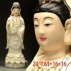 家居装饰品_陶瓷立式观音菩萨观世音送子自在佛像佛堂家居 - 阿里巴巴