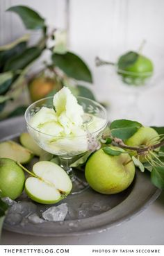 Green Apple Sorbet | Recipes | The Pretty Blog