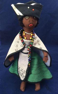 Wenco Design Transkei Xhosa Tribe Hand Crafted Beaded African Folk Art Doll #DollTribal
