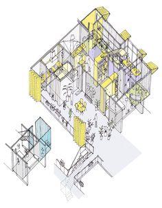 Vivienda y Terraza compartida. Recooperation por Improvistos. Imagen © Improvistos. Cortesía de Mass Housing Competition.