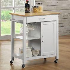 Reno Wood Top Kitchen Cart Image