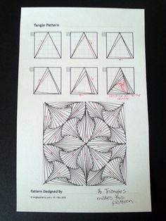Paradox Triangles~Zentangle