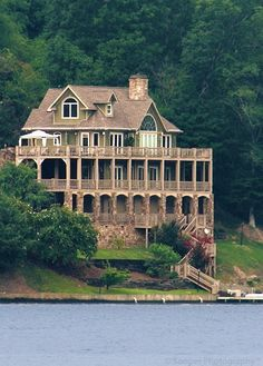 "I would build this on Lake Lure in North Carolina.  For those who don't know, Lake Lure is where the ""teach Baby the lift"" scene was filmed in Dirty Dancing and also the sight of Johnny's cabin.  :-)  It's a beautiful place."