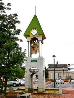 """Clock 時計 Tower """"Bells of Lavenir"""" ラブニールの鐘 in Biei hokkaido Japan by Arjan Richter, via Flickr"""
