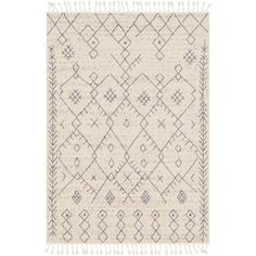 Laurel Foundry Modern Farmhouse Hudgens Distressed Cream/Gray Area Rug Rug Size: Rectangle x Farmhouse Rugs, Modern Farmhouse, Antique Farmhouse, Farmhouse Style, Bohemian Pattern, Ethnic Patterns, Eclectic Design, Interior Design, Diamond Pattern