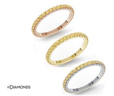 La proposta odierna, da 21Diamonds!  #Anello #Eternity con Citrino: meglio in oro bianco, giallo o rosso?  Scopri questo meraviglioso anello!