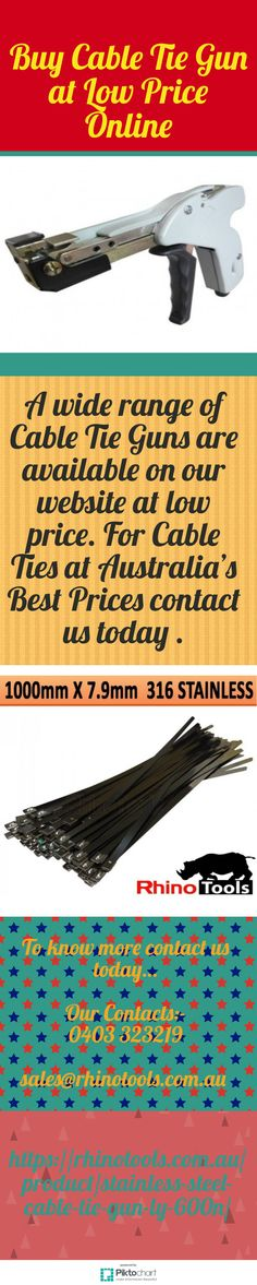 You have an opportunity Buy Cable Tie Gun at Low Price Online, then Rhino Tools is best option to choose wide range of Conduit Snake. For details visit link: https://rhinotools.com.au/product/stainless-steel-cable-tie-gun-ly-600n/