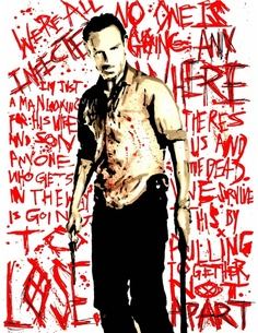 Rick Grimes The Walking Dead Quotes Watercolor Art Print Rick Grimes Walking Dead, The Walking Dead 2, Walking Dead Tv Series, Walking Dead Zombies, Zombie Walk, Zombie Girl, Walking Dead Quotes, Zombie Attack, Dead Inside