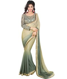 Shop at best prices party wear sarees.Buy online designer party wear sarees for women at affordable prices from Parisworld.Our collections of sarees are perfect for any occasion. Buy Designer Sarees Online, Designer Salwar Suits, Chiffon Saree, Georgette Sarees, Party Wear Sarees Online, Embroidery Saree, Saree Shopping, Ethnic Dress, Saree Collection