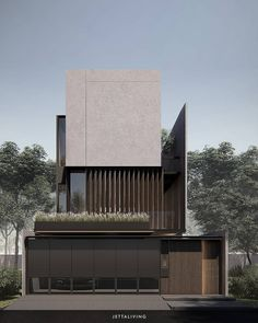 Minimal Architecture, Facade Architecture, Residential Architecture, Exterior Wall Design, Interior Design, Apartment Front Doors, Dream House Exterior, Facade House, Modern House Design