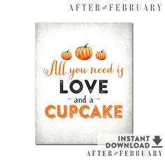 8x10 Cupcake Sign // Dessert Table Printable by AfterFebruary