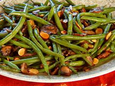 Green Beans with Mushrooms and Toasted Almonds, Recipe from Mad Hungry, December 2010