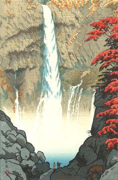 Kasamatsu Shiro - Nikko Kegon no Taki (Kegon Falls at Nikko)