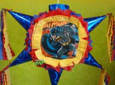 "Pinata Batman Gotham Knight Caped Crusader /Piñata Hand Crafted 26x26x12[Holds 2-3 Lb. Of Candy][For Any Occasion] Alternative Art! . $32.99. This Pinata measures:   Length= 26""   Height= 26""   Width=  12""  Hand Crafted Beautifully Detailed Traditional Cone Star shaped Piñata /Pinata with opening on top for stuffing candy's, toys and other items of your choice.  Pinata is Sturdy enough to hold 2-4 pounds of goodies.  This is the real thing, not a table decor..."