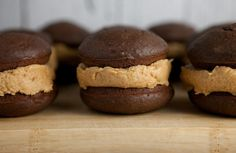 Delicious Chocolate Cake with Peanut Butter Buttercream in the middle makes up this Whoopie Pie. If you love soft chocolate cake, peanut butter buttercream filling and happiness then you are going to super love these Chocolate Peanut Butter Buttercream Whoopie Pies.    When you take your first...