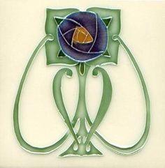 'Art Nouveau tile'