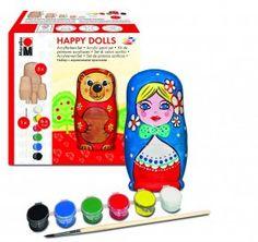 MATRJOŠKA (dřevěné bábušky)- sada HAPPY DOLLS | Tipy na dárky - malířské a…