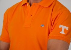c2d1c07b University of Tennessee Collegiate Skipjack Polo in Orange by Southern Tide.