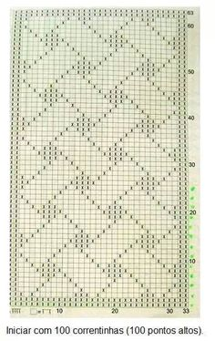 This Pin was discovered by ham x crochet file little checks doily great Large Rectangular Filet Crochet Table Runner by ShurleyShirley o bumbulis x Filet Crochet, Crochet Motifs, Crochet Diagram, Tunisian Crochet, Crochet Chart, Crochet Doilies, Crochet Stitches, Knit Crochet, Doily Patterns