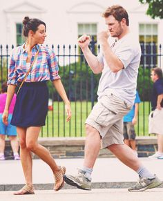 Chris Pratt & Aubrey Plaza
