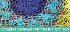 Lovebeat Diagram Written Instruction   Beautiful Crochet Stuff