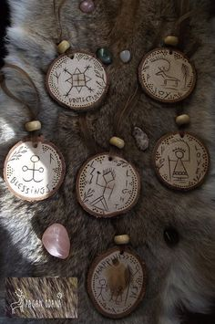 Your place to buy and sell all things handmade Pagan Yule, Wiccan, Witchcraft, Yule Crafts, Christmas Crafts, Christmas Tree, Shaman Symbols, Viking Christmas, Wood Reindeer