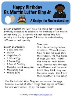 Classroom Freebies Too: Happy Birthday Dr. Martin Luther King, Jr.