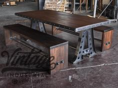 Base price includes 96 x 40 steel top in dining height.  Available in different sizes, with various tops (steel, mahogany, walnut, worn oak, cherry).  Top option: metal trim with bolted corners or a wood edge (custom riveted trim available with upcharge)  Steel top must have metal trim  Below are some ideas for top sizes, but we can make this in any size:  60″ x 34″ x 30″ tall  72″ x 34″ x 42″ tall (bar height)  72″ x 34″ x 30″ tall  96″ x 40″ x 30″ tall   Custom sizes (30% upcharge may…