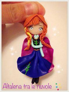 Anna, principessa di Arendelle #mybestfimo #polymerclay #lovehandmade