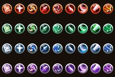 Game Skill Icons by sangwoo kim, via Behance