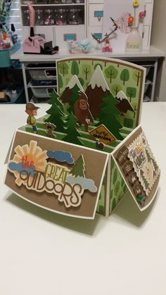 Birthday Card For My Sister Anita / Hiking Card In A Box-2 / Handcrafted By Sandy Pry / Pryme Dezign.