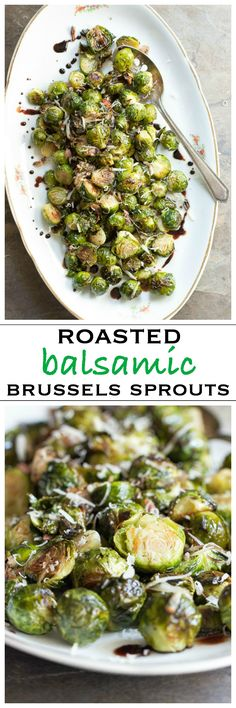 Roasted brussels sprouts with pancetta and  balsamic glaze | Foodness Gracious