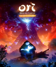 Ori and the Blind Forest definitive edition cover, Johannes Figlhuber on ArtStation at https://www.artstation.com/artwork/51vWA