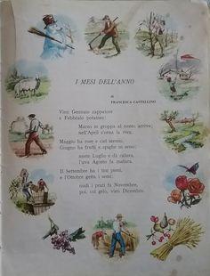 Canti, Vintage School, Nursery Rhymes, Buddha, Nostalgia, Calendar, Scrapbook, Memories, Italian Language