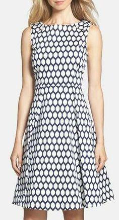Kate Spade New York Kendrick Print Fit & Flare Dress