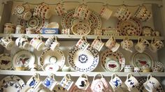 One of my very favourite pictures of EB! Emma Bridgewater Pottery, Love You Dad, Dressers, Holiday Decor, Tableware, Pictures, Collection, Kitchens, Photos