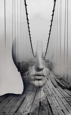 Spanish photographer Antonio Mora fuses standard portraits with landscape, animal, and abstract photography, resulting in extraordinary combinations. His o