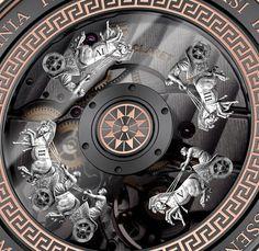 Christophe Claret Aventicum caseback detail - Perpetuelle