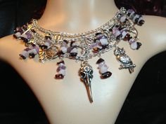 Charm multilayer chain necklace. Pagan Witch Wicca in Jewellery & Watches…