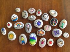 More of my Story Stones.