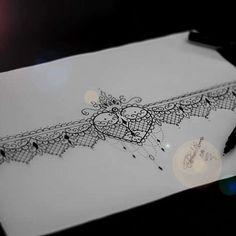 """Bracelete de Renda. Desenho disponível para tatuar. """" Que hoje seja hoje! Sem…"""
