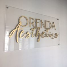 Custom Laser Cut 3D Layered Logo Sign on Clear Acrylic with Stand Offs